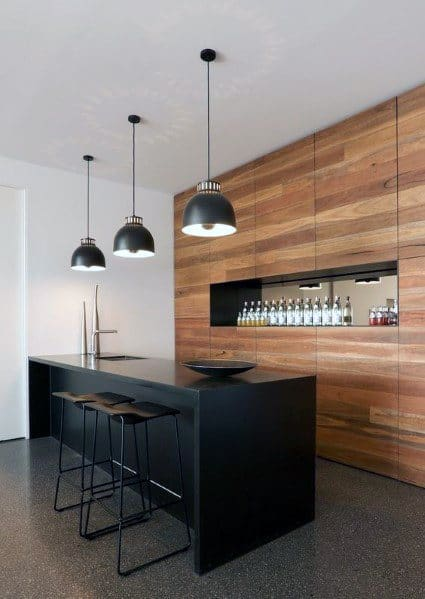 Home Bar Hardwood Wall Ideas