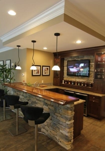 Top 40 best home bar designs and ideas for men next luxury - Home basement bar ideas ...