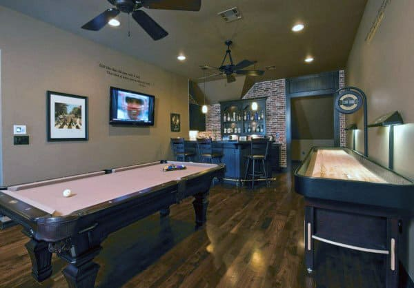50 man cave bar ideas to slake your thirst manly home bars for Pool design game