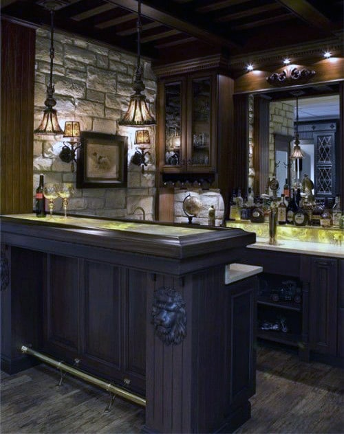 Home Basement Bars For Man Caves