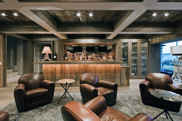 Home Basement Design Ideas For Coffered Ceiling