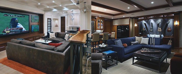 Home Basement Design Ideas For Men Masculine Retreats