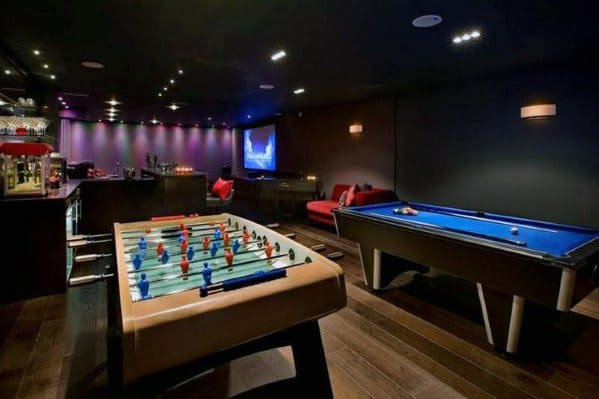 Home Basement Gaming Room Guys Man Cave Design Ideas
