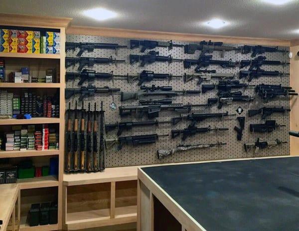 Home Basement Gun Room Designs