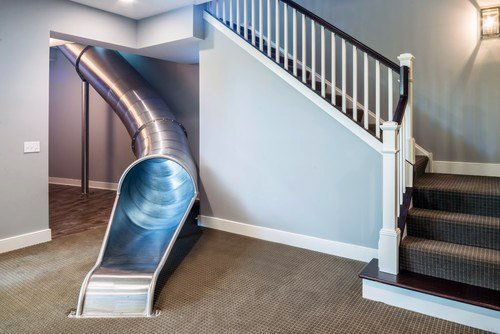 Home Basement Indoor Slide