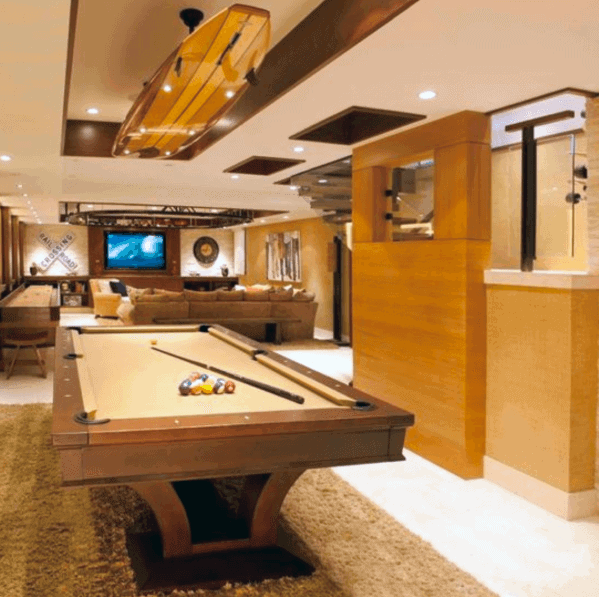 Home Basement Luxury Billiards Room Ideas
