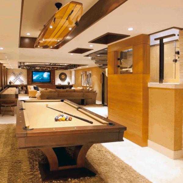 Home Basement Luxury Billiards Room Ideas