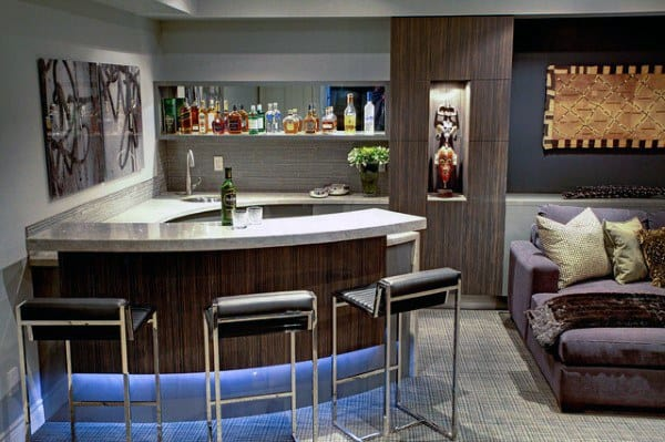 Home Basement Wet Bar Design Inspiration Ideas