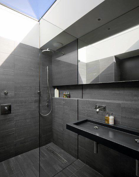 Home Bathroom Black Color Ideas