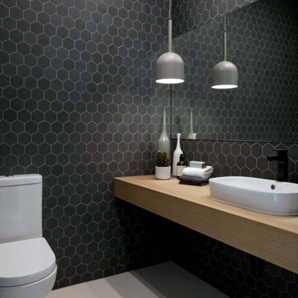 Home Bathroom Ideas Black Contemporary