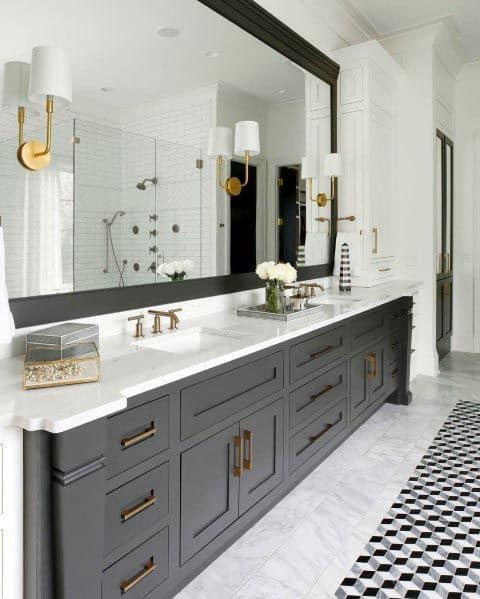 Home Bathroom Ideas Grey