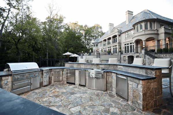 Home Built In Grill Ideas Stone Outdoor Kitchen