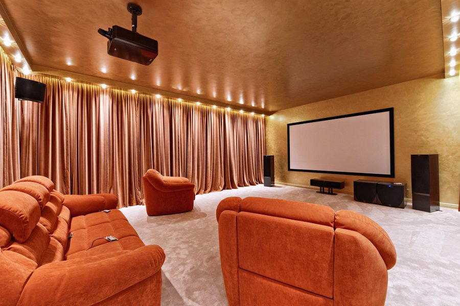 Interior Designs Home Theater Seating