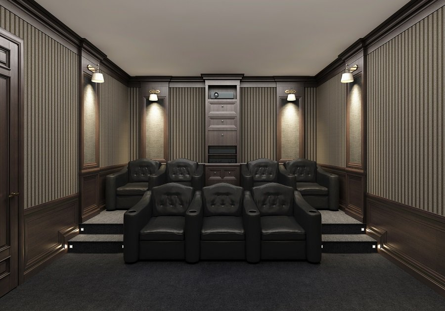 Light Grey Home Theater Seats