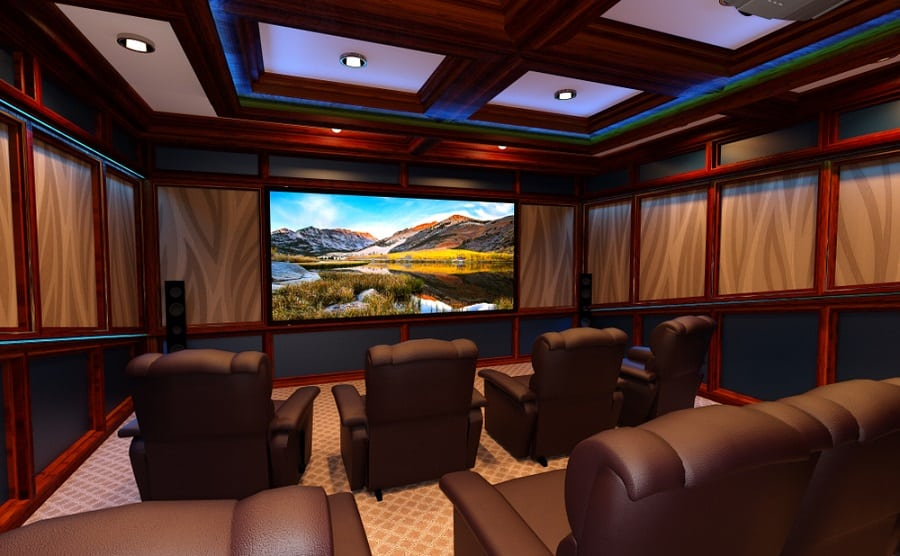 Magnificent Home Theater Seating Design Ideas