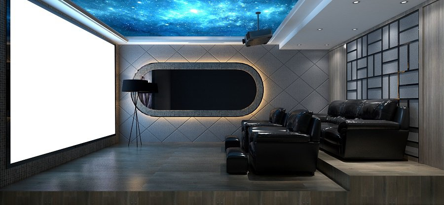 Nice Home Theater Seating Interior Ideas
