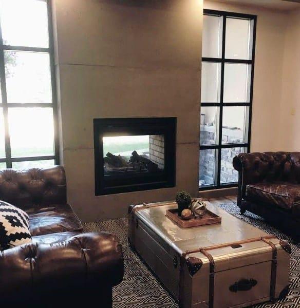 Home Concrete Fireplace Design