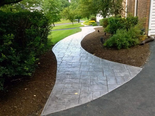 Home Concrete Walkway Ideas