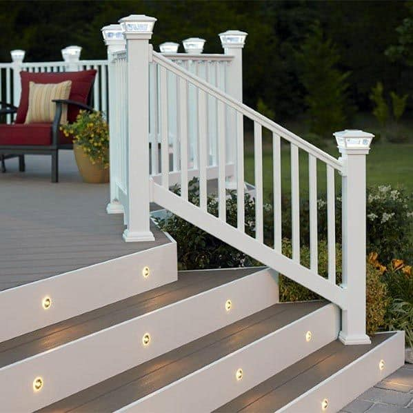 Home Deck Steps Ideas With Led Lighting