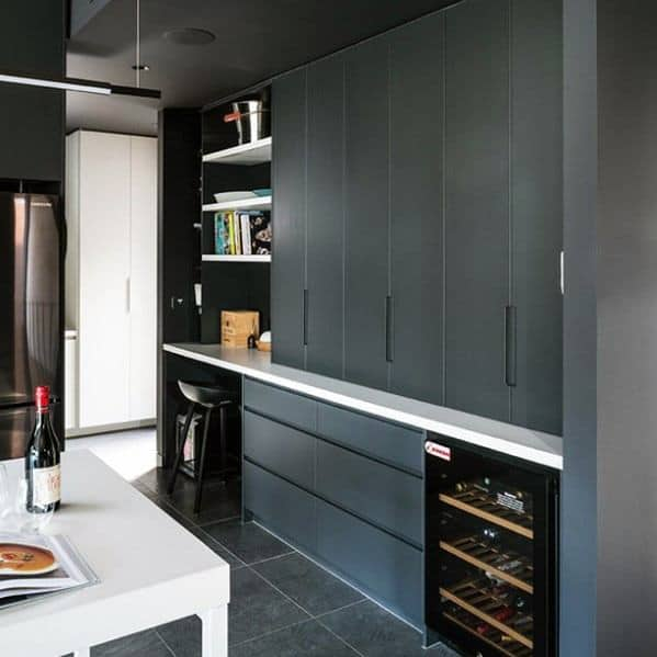 Home Design Ideas Black Kitchen Cabinet