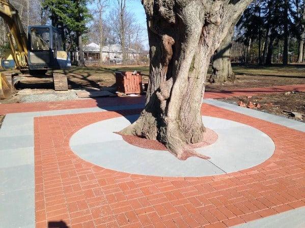 Home Design Ideas Brick Patio Around Tree