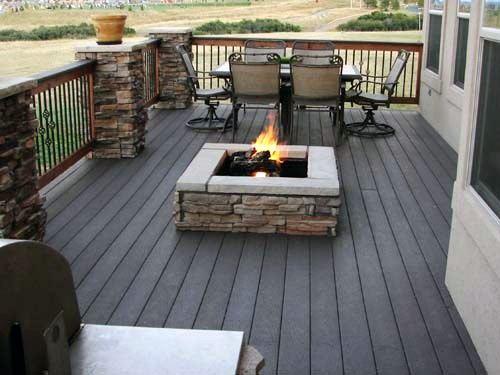 Home Design Ideas Deck Fire Pit
