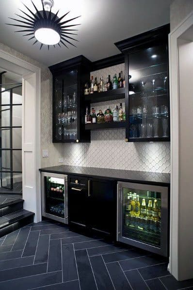 Home Design Ideas Finished Basement Built In Mini Bar