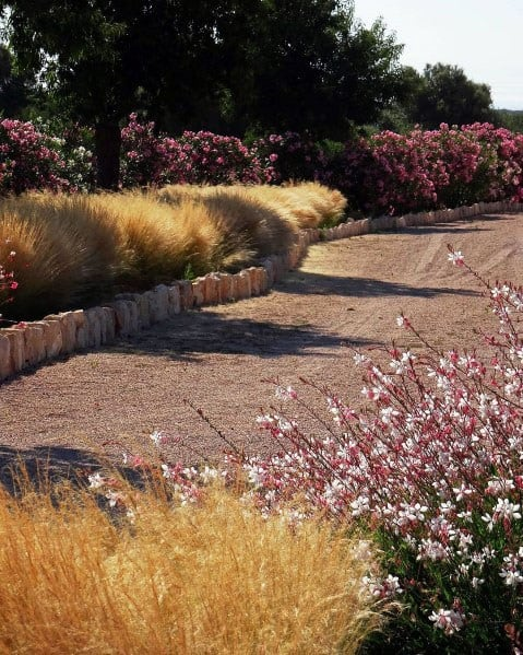 Home Design Ideas Gravel Driveway Landscaping Grass And Flowers