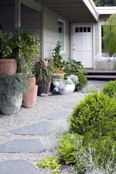 Home Design Ideas Gravel Walkway Stepping Stone Path