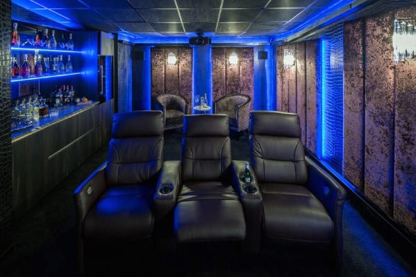 top 40 best home theater lighting ideas illuminated ceilings and walls. Black Bedroom Furniture Sets. Home Design Ideas