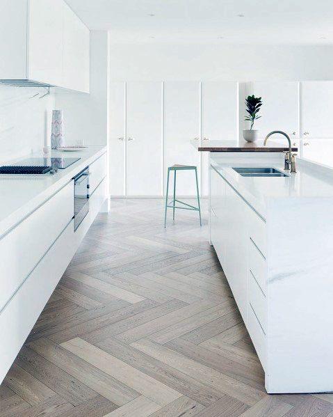 Home Design Ideas Kitchen Flooring Herringbone Hardwood Oak
