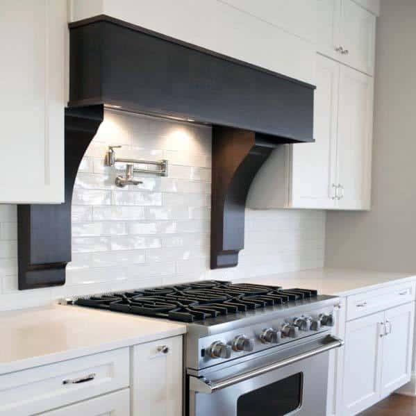 Home Design Ideas Kitchen Hood Painted Black