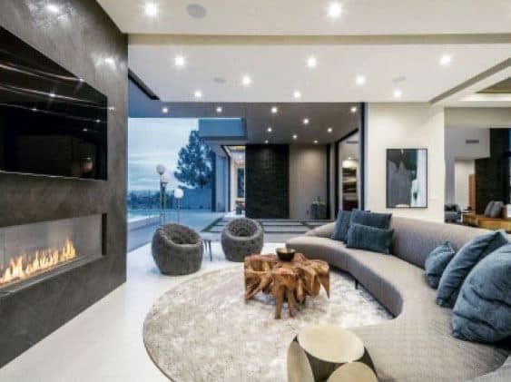 Home Design Ideas Linear Fireplace