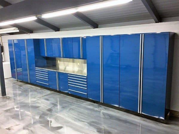Home Design Ideas Metal Blue Garage Cabinet Ideas