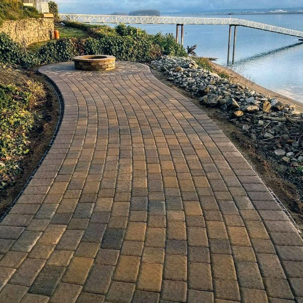 Home Design Ideas Paver Walkway With Fire Pit Patio