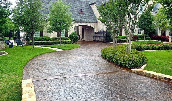 Home Design Ideas Stone Stamped Concrete Driveway