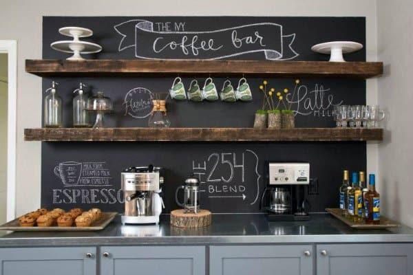 Home Designs Coffee Bar Ideas