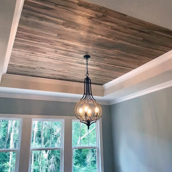 Home Dining Room Wood Ceiling Ideas