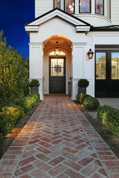 Top 50 Best Brick Walkway Ideas Hardscape Path Designs