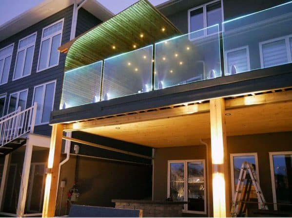 Home Exterior Above Deck Lighting