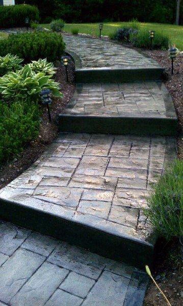 Home Exterior Concrete Walkway