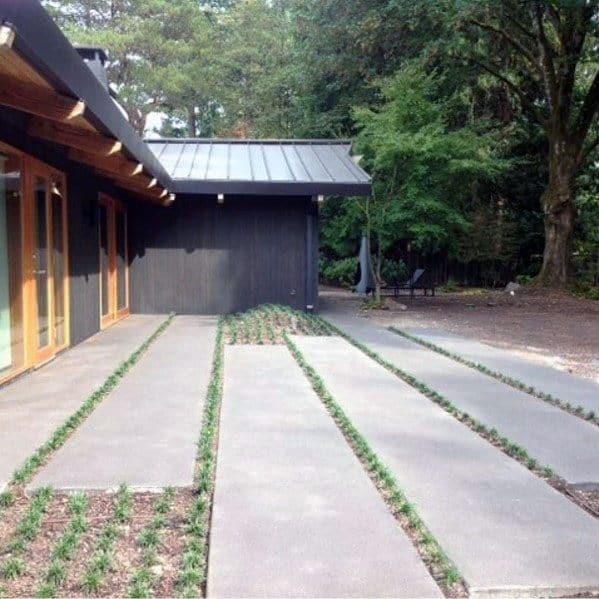 Home Exterior Designs Concrete Walkway