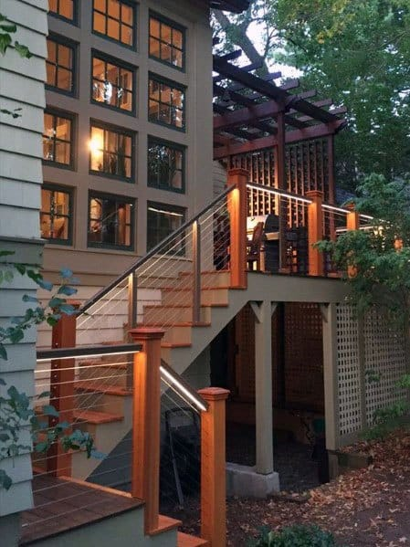 Home Exterior Designs Deck Lighting