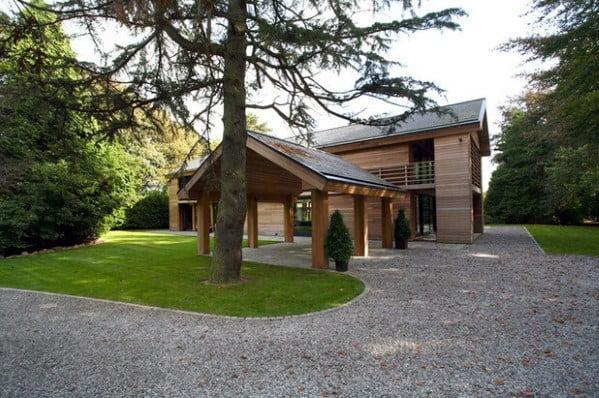Home Exterior Designs Gravel Driveway