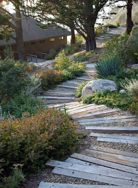 Home Exterior Designs Slope Landscaping