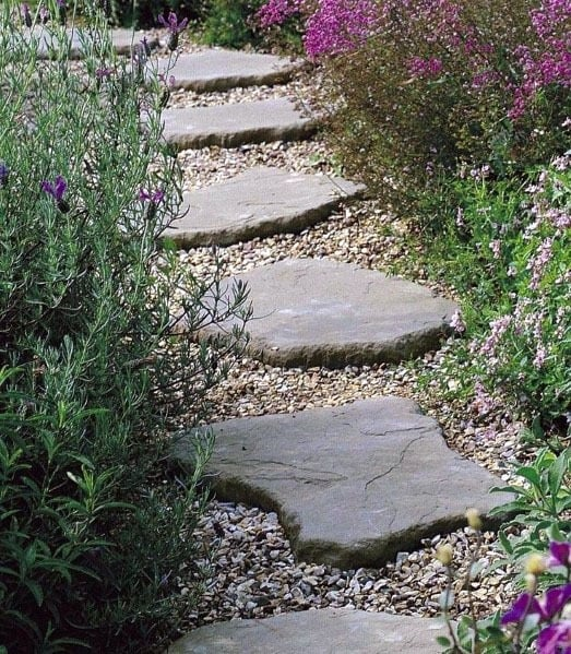 Home Exterior Designs Stepping Stone