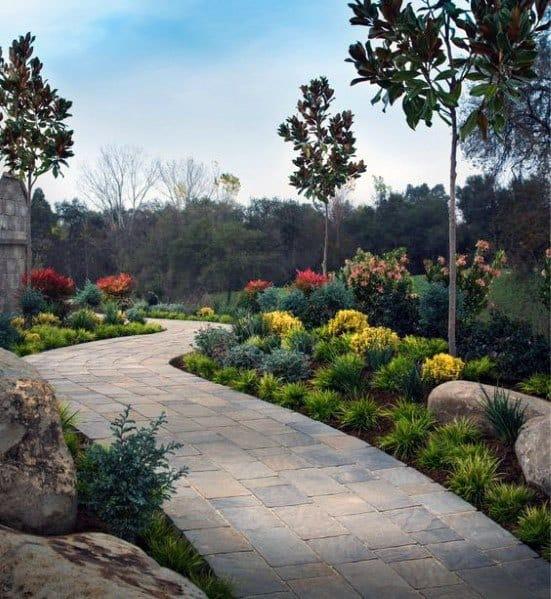 Home Exterior Landscape Designs Paver Walkway