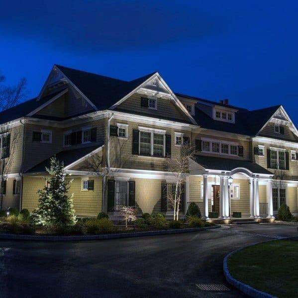 Home Exterior Landscape Lighting Front Yard