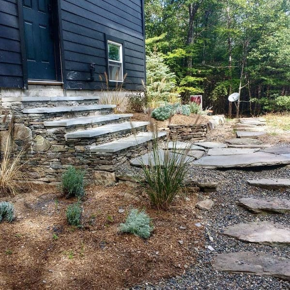 Home Exterior Stepping Stone Patio Path