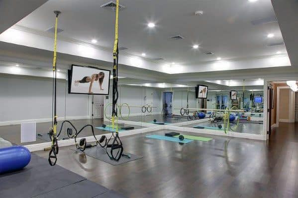 Home Finished Basement Ideas Fitness Gym
